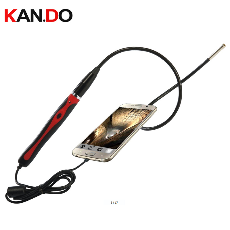 2017 tube 0.48m USB 1M 5.5mm 6LED Android endoscope PC Endoscope Camera Android OTG Endoscope USB inspection camera high quality