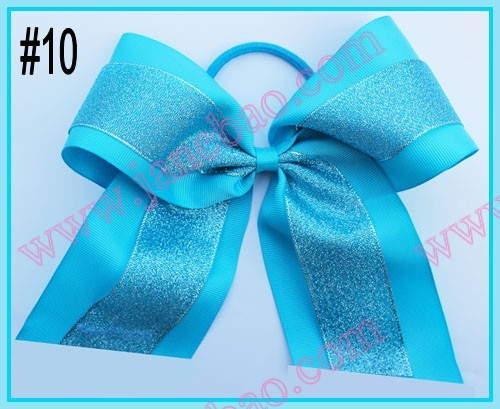 free shipping 300pcs 8'' sparkl Large glitter cheerleading bows rhinestone cheerleading ponytail-in Hair Accessories from Mother & Kids on ...