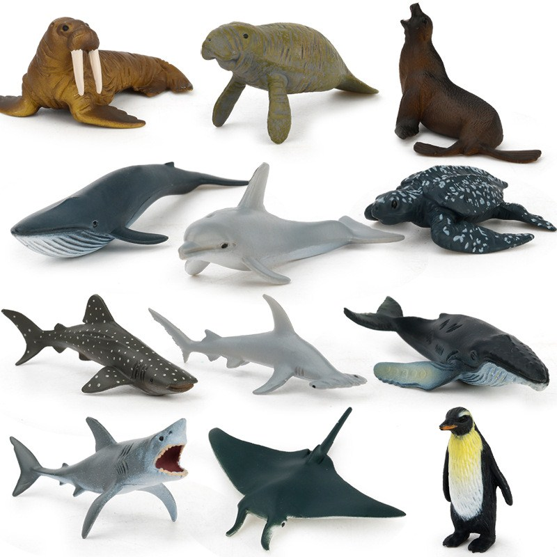 Ocean Sealife Animals Sets Bule Whale Dragon Dinosaur Toys Animal Collectible Model Educational Learning Toys for Children (2)