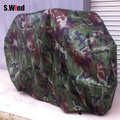 Cool Camouflage Waterproof Motorcycle Cover Outdoor Care Dust Rain Sun Prevent Cover Size M