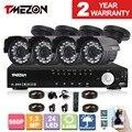 Tmezon 4ch 1.3mp ahd 960 p cctv sistema de vigilância home security 4 pcs ao ar livre à prova d' água câmera de visão noturna alarme 1 tb 2 tb conjunto