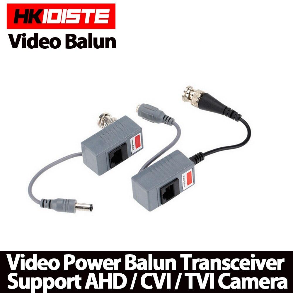 10 pcs CCTV Caméra Accessoires Audio Vidéo Balun Transceiver BNC UTP RJ45 Balun Vidéo avec Audio et Power over CAT5/5E/6 Câble