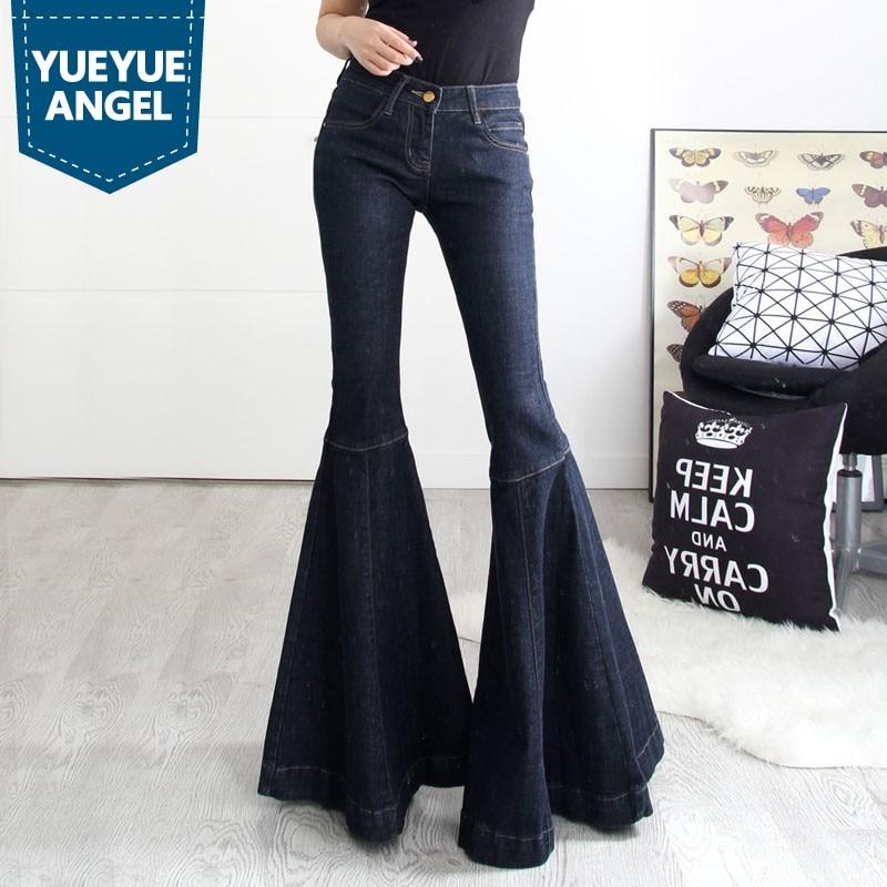 Cintura Ancha Tamaño Nueva Plus Fit De Denim Llamarada Inferior Vintage  Mediados long Mujer 2019 Blue Pants Gran Moda Jeans Campana Pantalones  Pierna Slim ... 5c9699147521