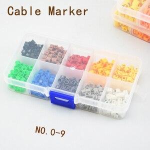 EC-0 opakowany w pudełko znacznik drutu kablowego od 0 do 9 dla rozmiaru kabla 1.5 sqmm kolorowy EC-1 EC-2 opakowanie granulowane oszczędzanie pracy
