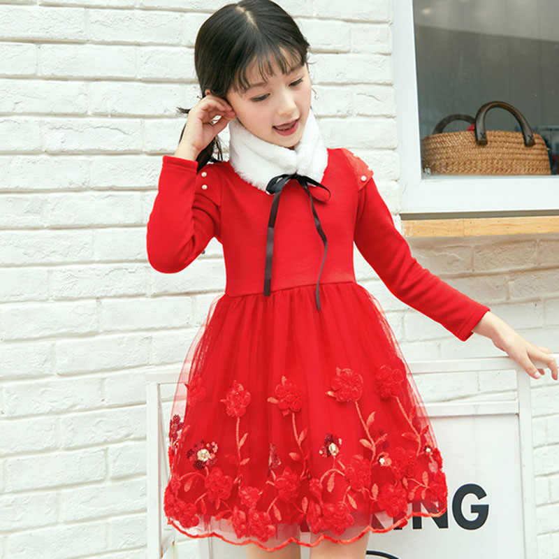 02ac1ed5dc493 Detail Feedback Questions about Winter Girls Dress Long Sleeve ...