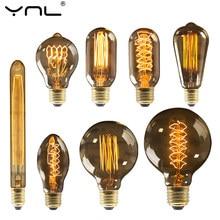 Ampoule rétro d'Edison, E27 220V 40W ST64 G80 G95 G125, lampe à incandescence pour décor à la maison