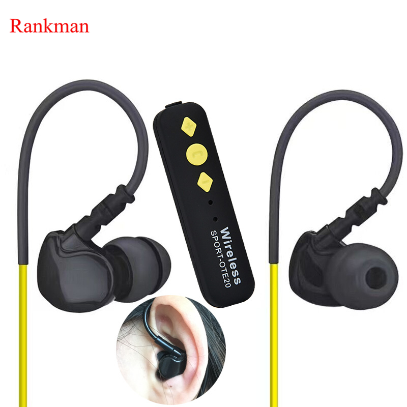 Rankman Sports Wireless Bluetooth Earphone Stereo Music Separate Earbuds Sweat Proof Earphones for iphone samsung remax bluetooth v4 1 wireless stereo foldable handsfree music earphone for iphone 7 8 samsung galaxy rb 200hb