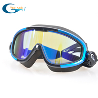 Large Frame Goggles Anti fog Waterproof HD Swimming Goggles Professional Swimming Equipment Men Women Four Colors YG1188