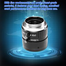 Obiektyw 35mm F1 8 CS Mount 5 0 megapikselowy obiektyw 17 5 stopni widzenie nocne z wykorzystaniem podczerwieni do kamera do monitoringu CCTV obiektyw przemysłowy tanie tanio KKMOON CCTV lens AN3518 Brak as description