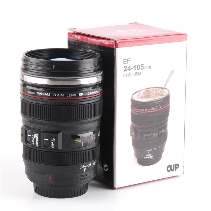 Fashion Sport Silicone Camera Lens Cups Mug Travel Water Cups And Mugs With  Lid Tumbler Outdoor Products Accessories Products b9bbf1b4d8