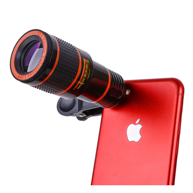HD Clip-on 14x Optical Zoom Telescope For Mobile Phone Telescope Lens HD Telescope Camera Lens For Universal Mobile