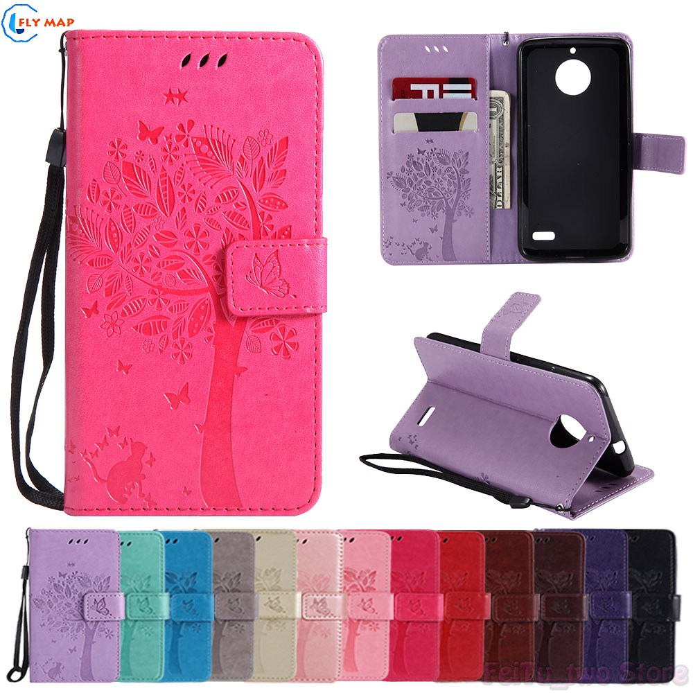 Coque For Motorola <font><b>Moto</b></font> <font><b>E4</b></font> XT1762 XT1767 <font><b>XT1761</b></font> Wallet Flip Phone PU Leather <font><b>Case</b></font> Cover for Motorola E 4th Gen XT1763 XT1764 Bag image