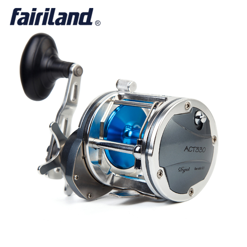 цена на Full Metal Boat Fishing Reel 6.2:1 4BB Quality Coil25kg Drag Power Drum Trolling Reel Right/Left Hand Available Sea Fishing Reel