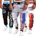 Corredores dos homens 2017 Casual Sweatpants Jogger Dança Sportwear Baggy Harem Calças Calças Ao Ar Livre Suor Calça Elástica Calças de Cintura