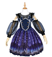 2018 Anime Lolita European Style Retro Palace Dress Cosplay Costume Lace Dress Theater Costume