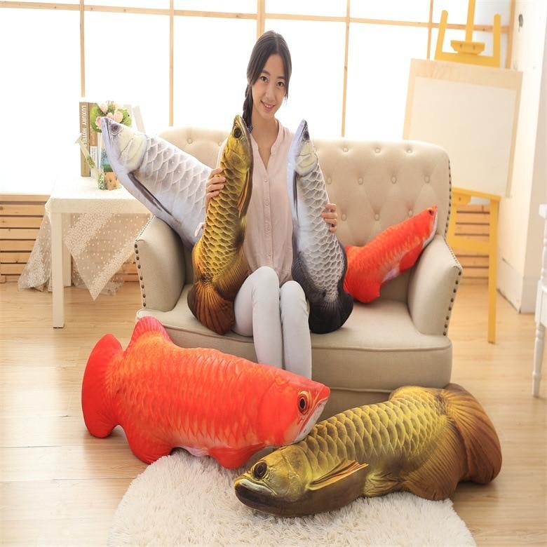 3D Creative Simulation Fish Sofa Cushion Soft Throw Pillow Toy Home Decoration Birthday Gift A1628