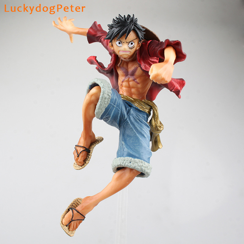 Toys & Hobbies Liberal One Piece 4 Edition Luffy Action Figure 1/7 Scale Painted Figure Monkey D Luffy Doll Pvc Acgn Figure Toy Brinquedos Anime 26cm Clear And Distinctive