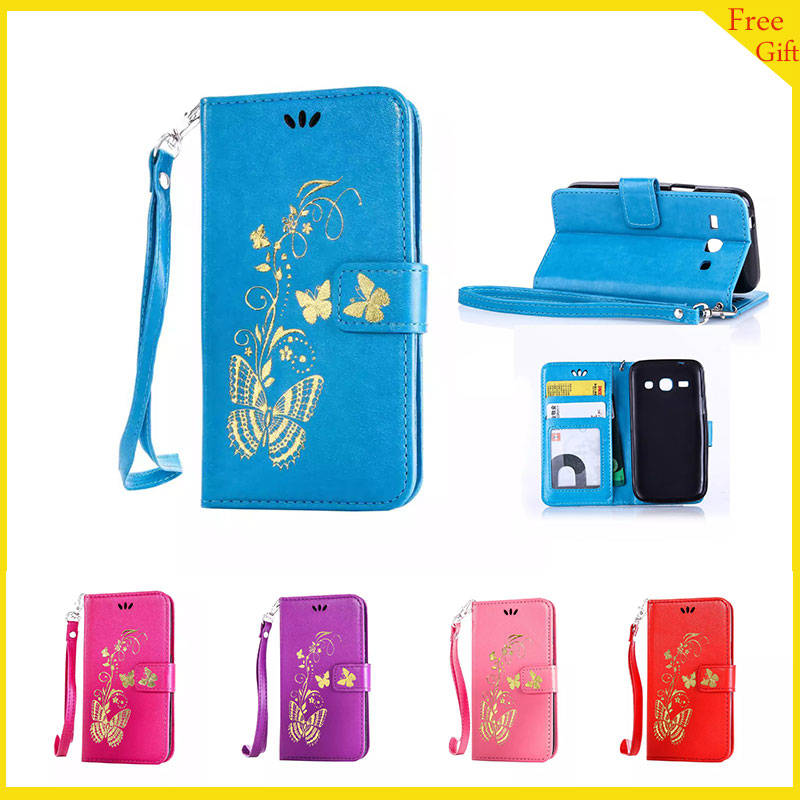 Luxury Wallet PU Leather Flip Cover For Samsung Galaxy ...