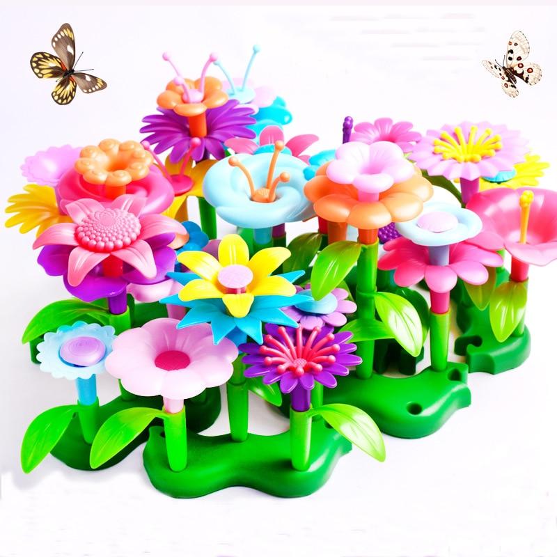 Puzzle Variety Patchwork Garden Set Intelligence Development DIY Assembly Gift Kids Toys For Girls Children Boys Pretend Play