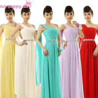 xxl long sleeveless bridesmaids formal floor length one shoulder bridesmaid dresses lilac yellow bridesmaid dress B2694