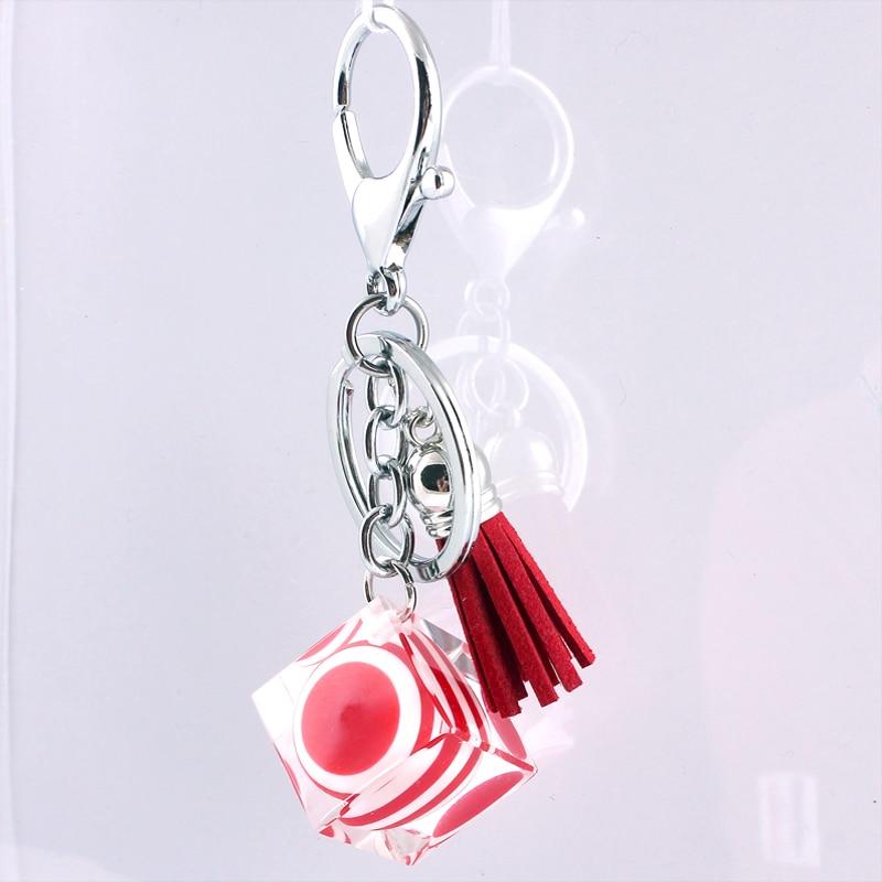 Glass Crystal Zinc Alloy Korean Fashion Car Buckle font b Accessories b font keychain in lot
