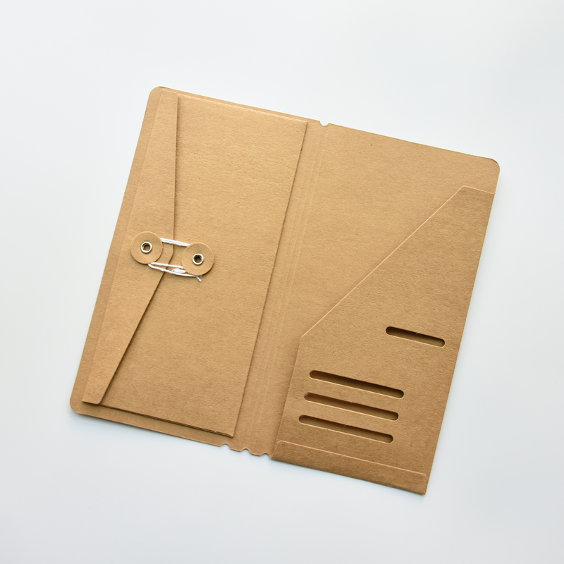 MaoTu Kraft Paper Envelope Organizer For Traveler's Notebook Diary Refills Accessory For Tickets Cards Passport