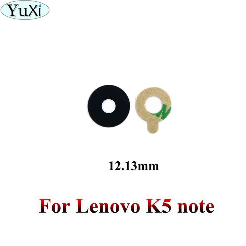 Yuxi untuk Lenovo K8 Note/K6 Note/K6/K5 Note/Zuk Z1/Zuk Z2 Perbaikan kamera Belakang Kaca Len Cover dengan Perekat Lem