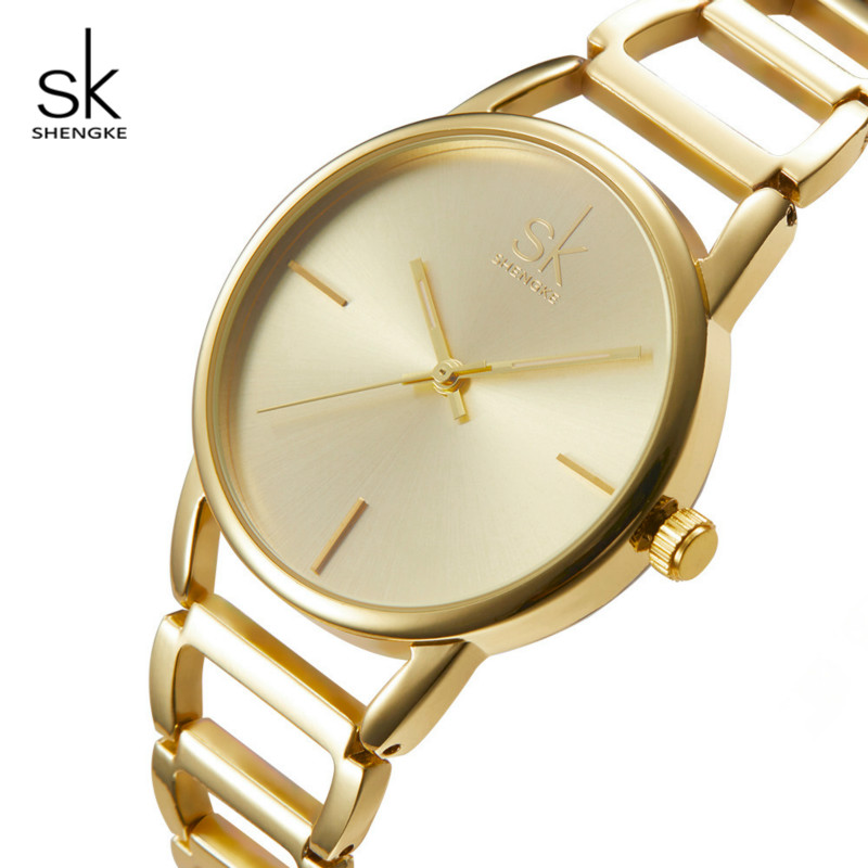 Shengke Fashion Women Watches Brand Luxury Stainless Steel Quartz Watch Relogio Feminino 2018 SK Ladies Bracelet Watches #K0028 chenxi fashion luxury quartz watch women dress stainless steel strap waterproof business casual ladies watches relogio feminino