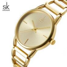 Shengke Moda Mujeres Relojes de Marca de Lujo de Acero Inoxidable Reloj de Cuarzo Relogio Feminino 2018 SK Ladies Relojes de la Pulsera # K0028