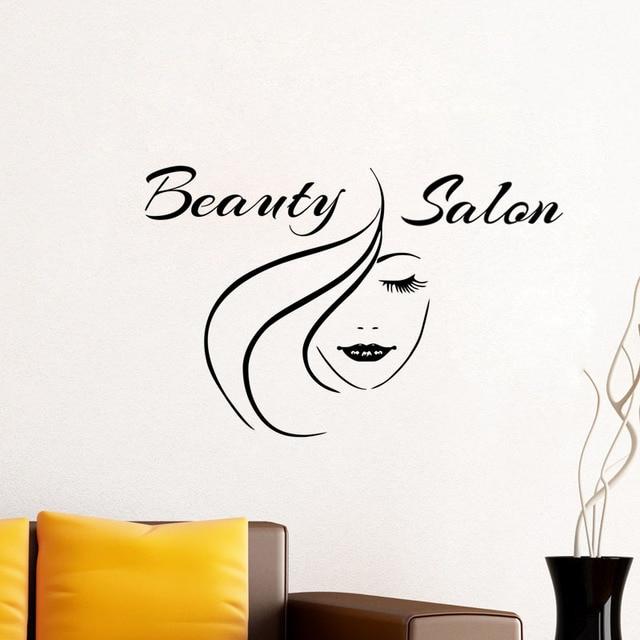 Beauty Salon Wall Art Stickers Creative Fashion Woman Poster Home ...