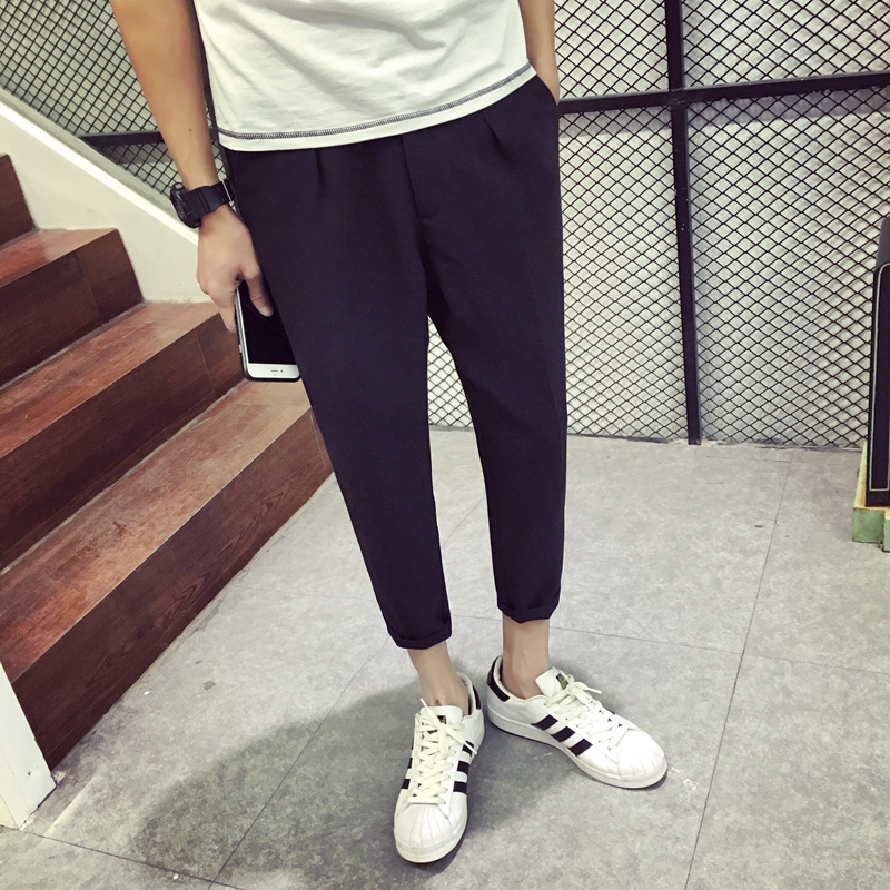 2017 The New Listing Pattern Trend Mens Style Gentleman Trousers Casual Students Teenagers Favourite Tactical Pants Fashion
