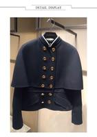Ky & P WYSOKIEJ Jakości Nowy Projektanci Runway Płaszcz Kobiety Moda Jesień Zima Czarny Płaszcz Długie Rękawy Podwójne Piersi Kobiet płaszcze