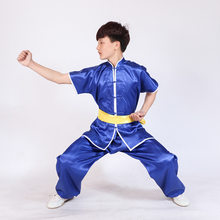 Wushu Uniform Stage Performance Short Sleeve Tai Chi Clothing Kung Fu Suits Taijiquan Practice Performance Wear kid to Adult(China)