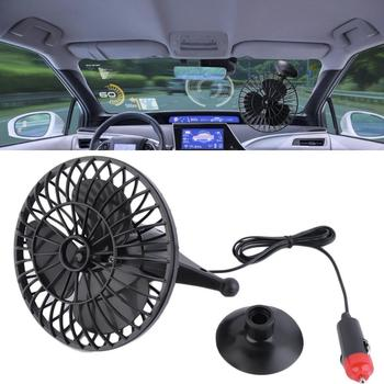 4 Inch Car Mini Fan With Suction Cup 12V Electric Fan Cooling Device Home Car Mini Fan Auto Accessories Summer Gift image