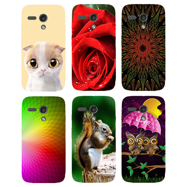 Case For Motorola Moto G XT1028 XT1032 XT1031 Back Cover Flower Plants Original Hard Plastic Printed Cat Owl Animal Phone Case