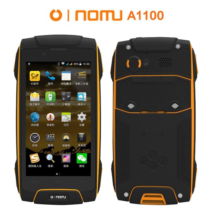 OINOM A1100 LMV11 LMV11H Étanche IP68 Antichoc téléphone 3300 mAH Quad core MT6582 4.5 pouces 1G RAM 8G ROM WCDMA F6