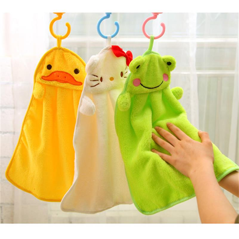 UNIKIDS Colorful sweet candy colored cartoon baby towel super soft coral fleece kid child towel wipe sweat hung towel