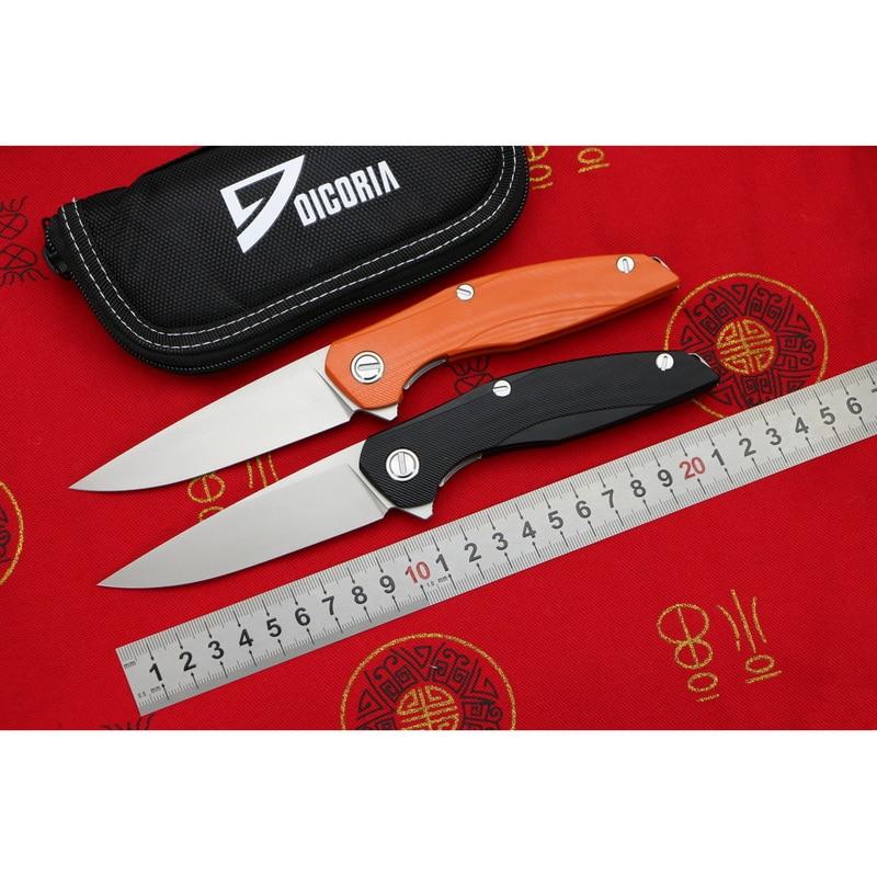 DICORIA フリッパー F111 D2 刃鋼 titanium + G10 ハンドル折りたたみナイフアウトドアキャンプ果物ナイフ EDC ツール  グループ上の ツール からの ナイフ の中 1