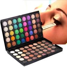 80 цветов косметический мерцающий матовый крем для теней для век роскошный макияж палитра Shimmer