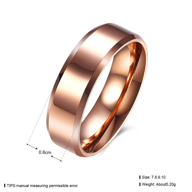 Ks Gadgets Fashion Titanium Steel Ring High Quality Wedding Rings For Men And Women Rose Gold Jewelry