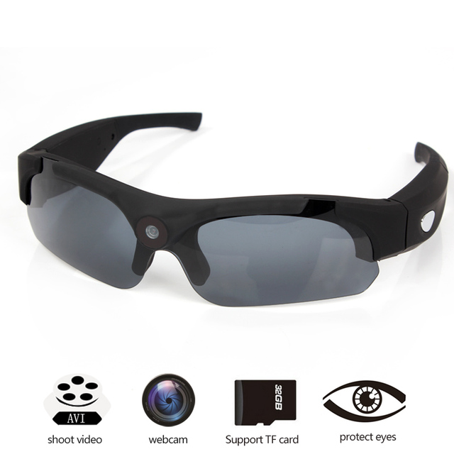 f7aebf717a Wide Angle Lens Sunglasses Camera HD 1080P Outdoor Sport Glasses Camera  Bike Motorcycle Recording Mini DV Cam secret
