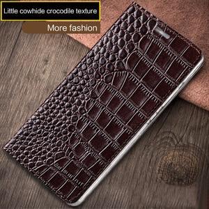 Image 2 - wangcangli brand phone case genuine leather crocodile Flat texture phone case For Gionee S8 handmade phone case
