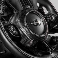 Carbon fibre Car Steering Wheel Sticker Cover Decoration for Mini Cooper JCW Clubman F54 F55 F56 F57 F60 Car Styling