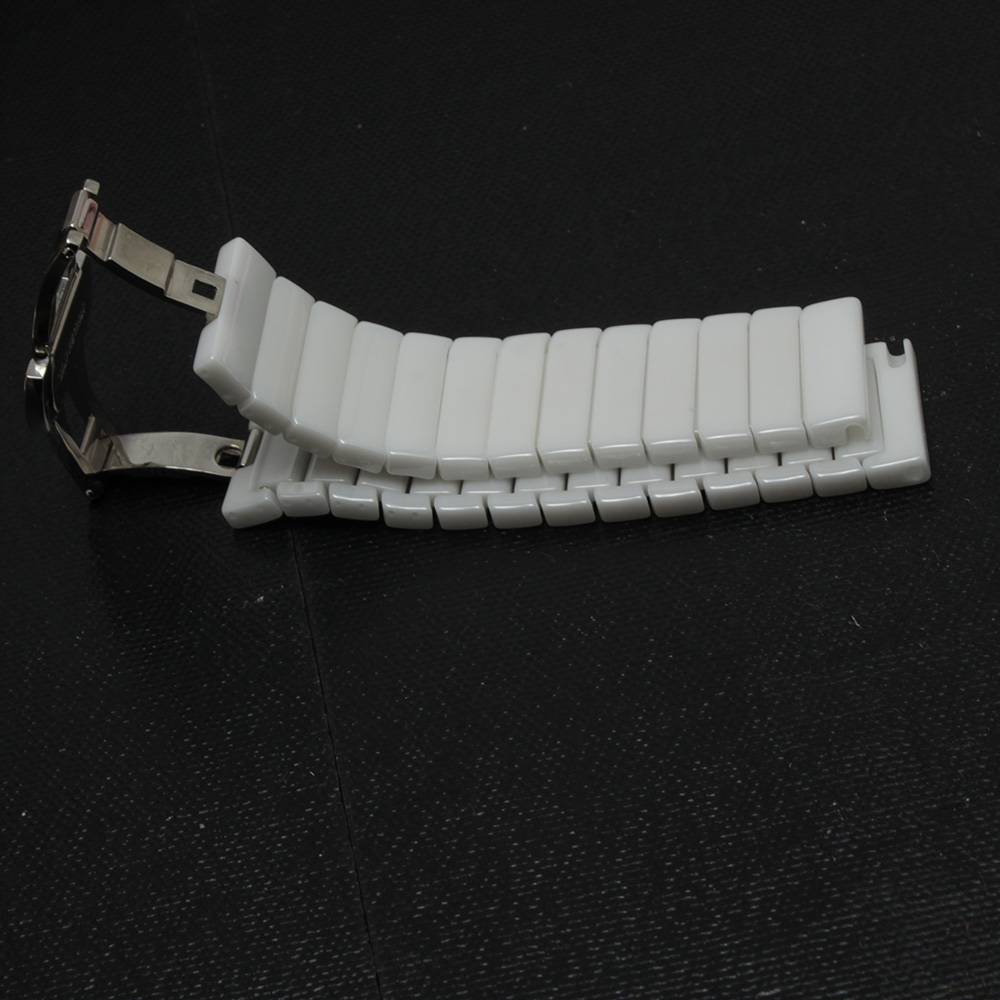 Watchband Strap Bracelet Ceramic 20mm 22mm White Watch bands butterfly buckle stainless steel clasp Fashion Watches accessories 16mm 18mm 20mm 22mm ceramic and stainless steel watchband bracelet rose gold white watch band watch strap butterfly buckle clasp