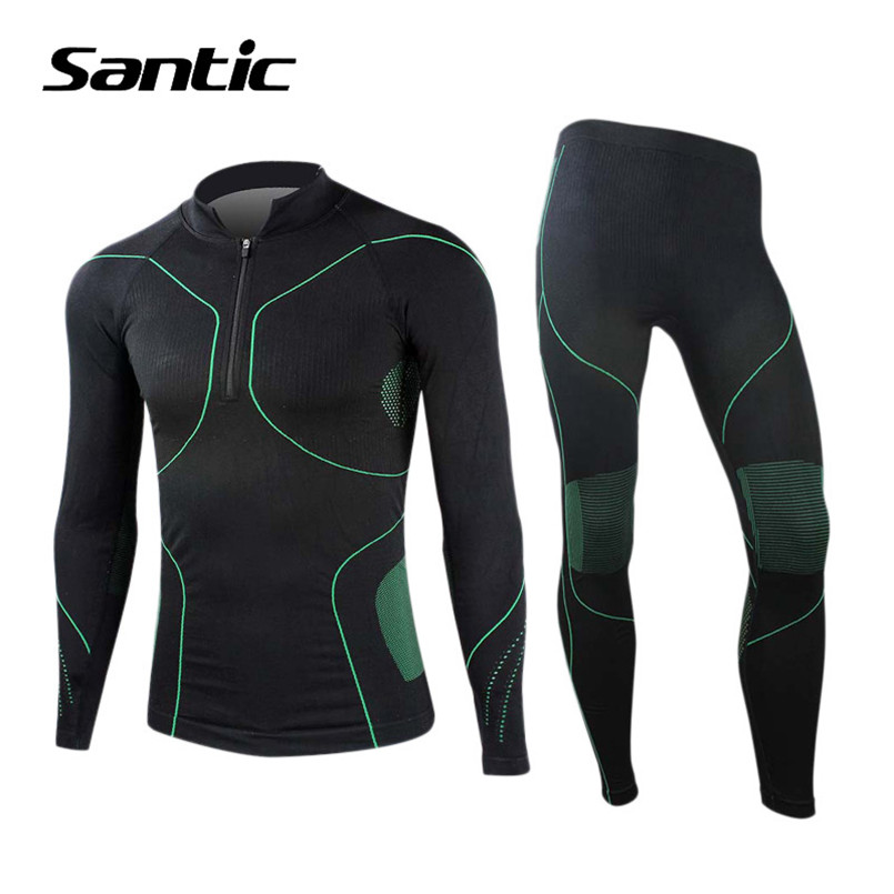 Santic Seamless Cycling Base Layer Sets Bike High Elastic Warm Sport Jersey Sets Quick Dry Breathable Bicycle Suit Ropa Ciclismo santic cycling jersey sets men new 2017 pro team bike clothing short sleeve breathable cycling suit quick dry ropa de ciclismo