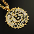 AGOOD 2017 Hiphop fashion Elegant gold statement necklaces & pendants for women men bitcoin letters channel for unisex femme