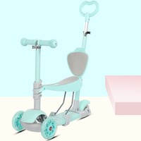 newest 5 in 1 Scooter for children baby walker removable SEAT three wheel children adult Kick Scooter folding