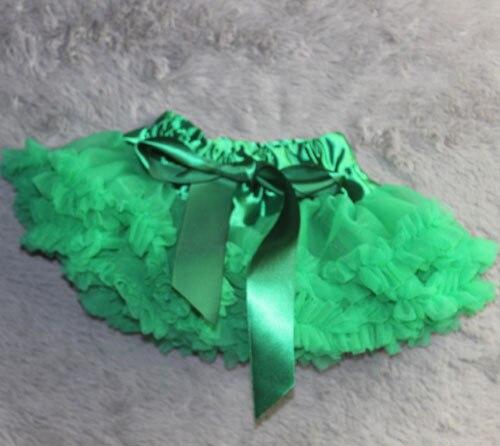Пышная юбка для малышей Мягкая шифоновая Пышная юбка-пачка для малышей Юбка-пачка для маленьких девочек детская одежда юбка-пачка для новорожденных - Цвет: Зеленый
