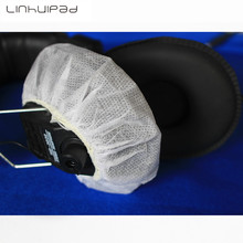 Linhuipad 12cm Replacement Non-woven Sanitary headphone covers 100pcs disposable earmuff Free shipping by Registered Post