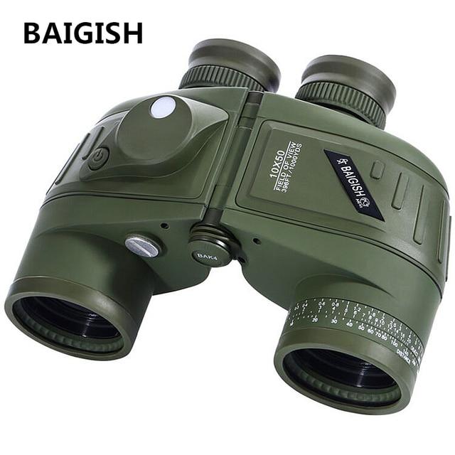 BAIGISH Binoculars Powerful Russian Military 10x50 Marine